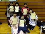 14.1.19冬季D大会.女子1部入賞者